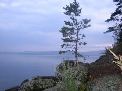 Озеро Тургояк и остров Святой Веры